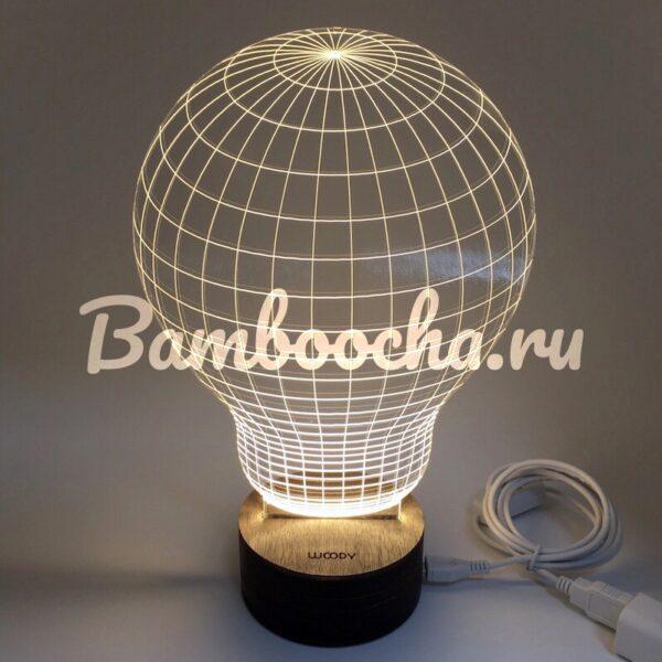 Акриловый светильник 3D Лампочка